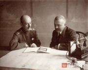 В.В. фон Мекк и А.В. Щусев. 1916