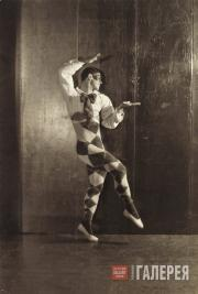"Vaslav Nijinsky as Harlequin from the ballet ""Carnaval"""