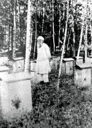 Н.Н. Ге на пасеке. Хутор Ивановский. Лето 1891