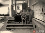 Н.Н. Ге-мл. с детьми: Прасковьей, Иваном и Николаем