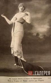 Оперная певица Ж. Белак в костюме, созданном по эскизу Л.С. Бакста. Фото. 1913