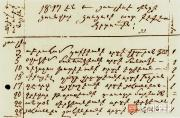 Excerpt from the register of the St. Sergius (Surb-Sarkis) Church in Feodosia