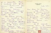 Письмо А. Селига к Л.С. Баксту