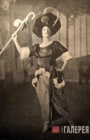 Американская актриса и певица Этель Леви в костюме, созданном по эскизу Бакста