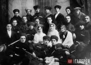 Khadzhi-Bekr Akhriev (second on the left, third row) and Gazi-Magomed Dourbekov