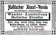 Реклама Кунстферайна Галле. 1906