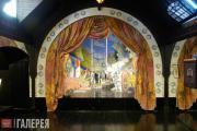 Декорация для постановки в домашнем театре Эвергриин, созданная по эскизу Бакста
