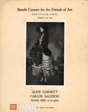 Программа концерта с участием Алис Гаррет. 12 марта 1923