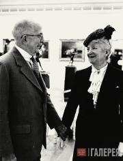 Sterling and Francine Clark on the opening day of the museum, May 1955