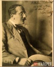 Леон Бакст. Фото Леона Бакста с дарственной надписью Алис Гаррет. 1915
