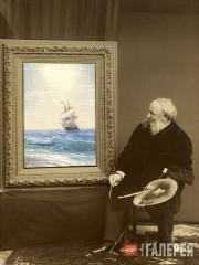 IVAN AIVAZOVSKY. Sailing Ship on the Sea. 1887