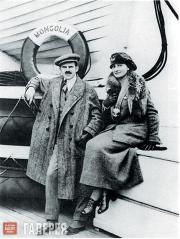 Alexander and Angelica Archipenko on board the S.S.  Mongolia,  emigrating to th