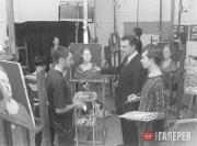 Занятия со студентами первого курса факультета живописи