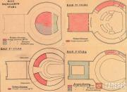 The floor plans of the Novosibirsk Opera House