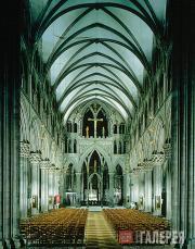 Интерьер Нидаросского собора (Норвегия), восточная сторона
