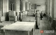Ящики с упакованными картинами Третьяковской галереи