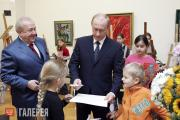 Vladimir Putin at the Zurab Tsereteli Art Gallery