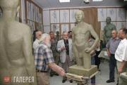 Просмотр работ на факультете скульптуры