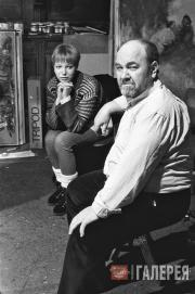 Anatoly Slepyshev and his daughter Anastasia Moscow. 2000s