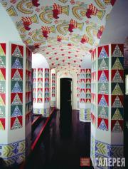 Фойе  домашнего  театра в усадьбе Гарретов  Эвергрин, оформление Леона Бакста
