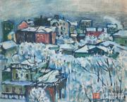 Kandinsky Wassily. Winter Day. Smolensky Boulevard. c. 1916