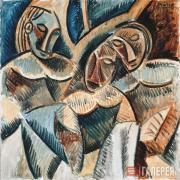 Picasso Pablo. Three Figures under a Tree. 1907–1908