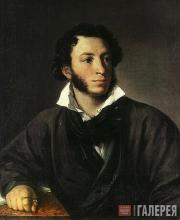 Tropinin Vasily. Portrait of Alexander Pushkin. 1827