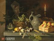 Khrutsky Ivan. Fruit and a Candle. Late 1830s-early 1840s