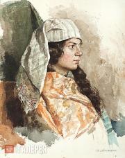 Levitan Isaaс. Jewish Woman in an Oriental Wrap. 1884