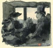 Maria Yakunchikova's drawing in her letter from Paris to her sister Natalya Pole