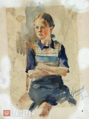 Kuzginov Konstantin. Portrait of a Girl. 1940
