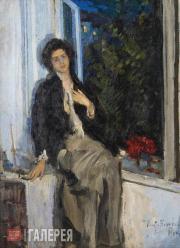 Korovin Konstantin. Portrait of Nadezhda Komarovskaya. 1914