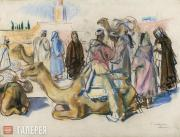 Serebryakova Zinaida. Market with Camels. Marrakesh. 1932