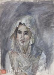 Falk Robert. In a White Shawl (A.V.Shchekin-Krotova). 1945
