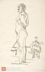 Serov Valentin. Standing Model. 1910-1911