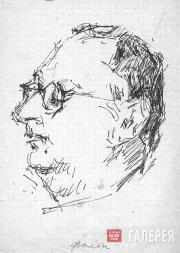 Yumashev Andrei. Portrait of Robert Falk. 1950