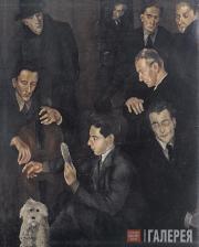 Guido PEYRON. Friends in the Studio. 1928