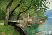 Levitan Isaaс. At Lake Como. Embankment. 1894