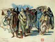 Serebryakova Zinaida. Bazaar in Marocco. 1928
