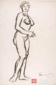 Konchalovsky Pyotr. Standing Female Model. 1911