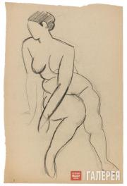 Falk Robert. Seated Female Nude. 1914