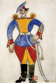 Larionov Mikhail. Soldier. 1915