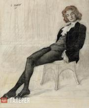 Leon BAKST. Portrait of Zinaida Gippius. 1906