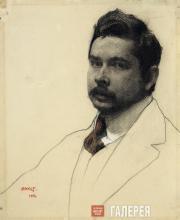 Л.С.БАКСТ. Портрет К.А.Сомова. 1906