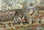 Харитонов Александр. Разбрасывание и собирание камней. 1992