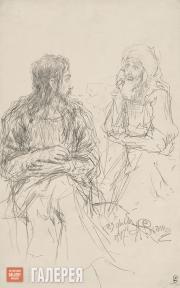 Repin Ilya. Christ and Nicodemus. 1887