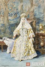 Elena SAMOKISH-SUDKOVSKAYA. Portrait of the Empress Alexandra Fyodorovna. 1903