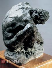 """Golubkina Anna. A man's figure for the fireplace """"Fire"""". 1900"""