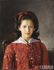 Serov Valentin. Portrait of Lyudmila Mamontova. 1884