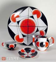 Rodchenko Alexander. Design of a traktir (tavern) tea set